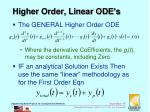 higher order linear ode s