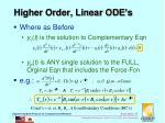 higher order linear ode s1