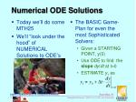 numerical ode solutions