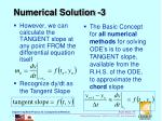 numerical solution 3