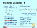 predictor corrector 1