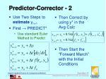 predictor corrector 2