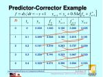 predictor corrector example1