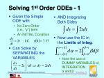 solving 1 st order odes 1