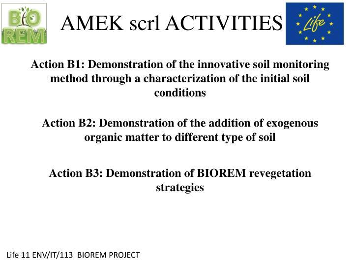 Amek scrl activities