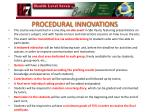 procedural innovations