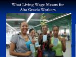 what living wage means for alta gracia workers