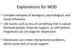 explanations for mdd