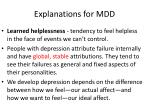 explanations for mdd2