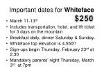 important dates for whiteface