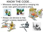 know the code1