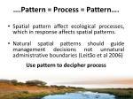 pattern process pattern