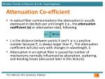 attenuation co efficient