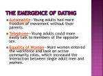 the emergence of dating1