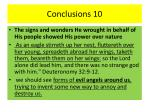 conclusions 10