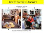 law of entropy disorder