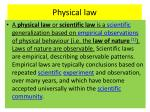 physical law