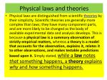 physical laws and theories
