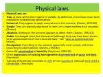 physical laws
