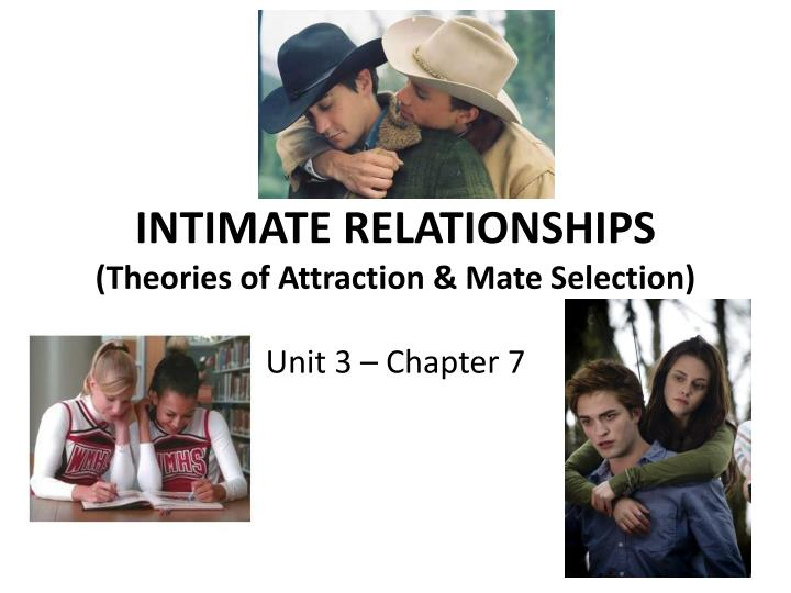 physical attractiveness and intimate relationship The study of attraction, relationships, and love is a challenge for many reasons, but more  (physical attraction,  relationships then become more intimate when.