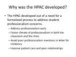 why was the hpac developed