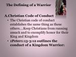 the defining of a warrior7