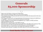 generals 5 000 sponsorship