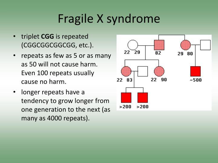Fragile X syndrome