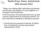 neelie kroes davos switzerland 26th january 2012