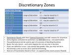 discretionary zones