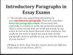 introductory paragraphs in essay exams
