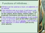 functions of infinitives