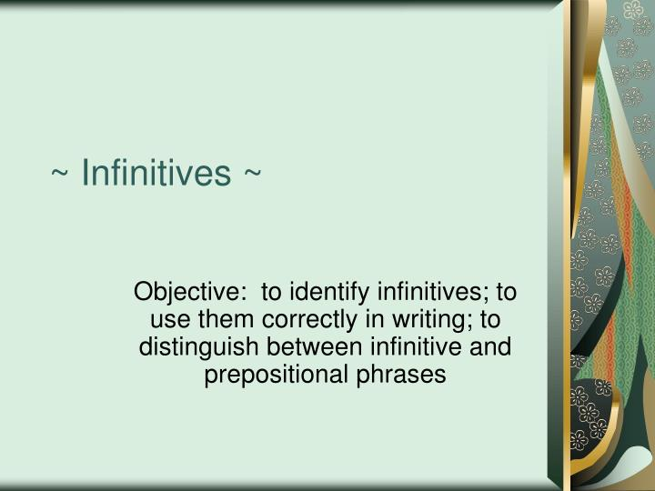 infinitives n.