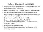 school day reduction in japan