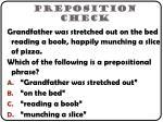 preposition check