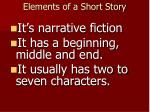 elements of a short story1