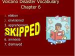 volcano disaster vocabulary chapter 6