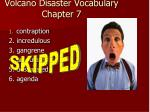 volcano disaster vocabulary chapter 7