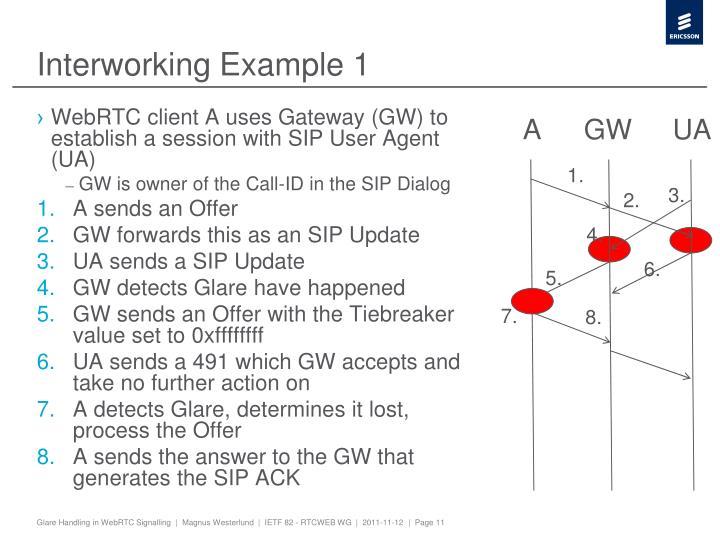 Interworking Example 1