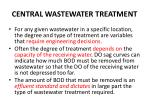 central wastewater treatment
