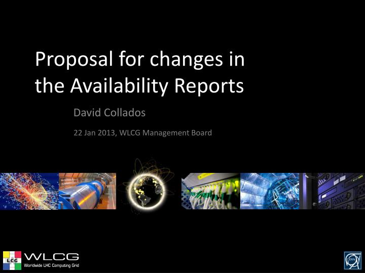 proposal for changes in the availability reports n.