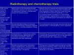 radiotherapy and chemotherapy trials