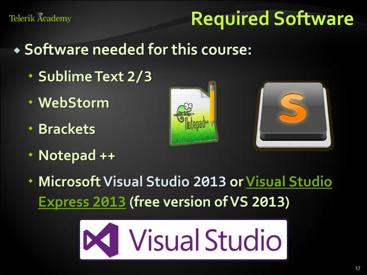 Required Software