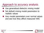 approach to accuracy analysis