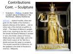 contributions cont sculpture