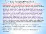 2 nd body paragraph reason 2