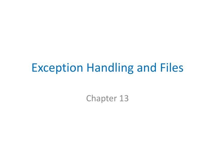 exception handling and files n.