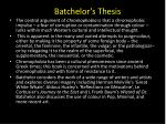 batchelor s thesis