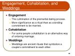 engagement cohabitation and weddings