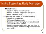 in the beginning early marriage1